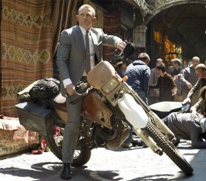 Daniel Craig in a seat wider than Cineworld's.